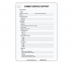 B5 Pl Sgt (CSS) Combat Support Service Pack