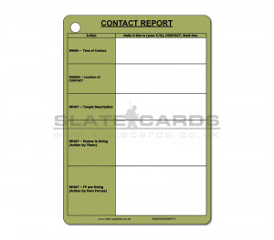 A6 Contact Report Slate / Crib Card