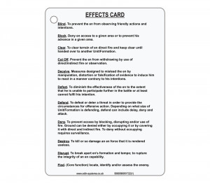 A6 Effects Card