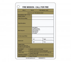 A6 Fire Mission / SITREP Slate / Crib Card