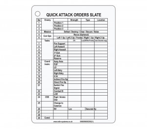 B5 Quick Attack Orders (QAOS) Slate