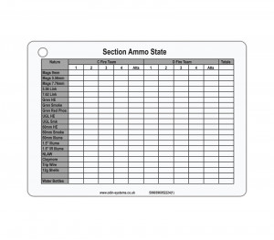 B5 Section Ammo/Casualty State Slate / Crib Card
